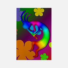 Psychedelic Kokopelli Rectangle Magnet
