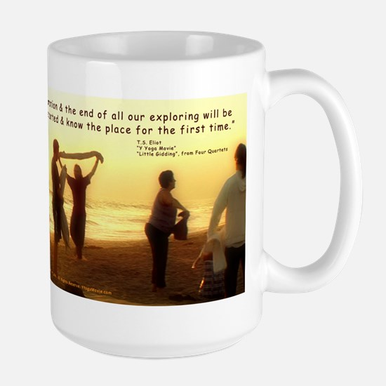 """""""Y Yoga Movie"""" Feel Good Large Mug, TS E"""