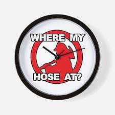 Where My Hose At? Wall Clock