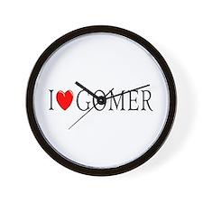 I Love Gomer Wall Clock