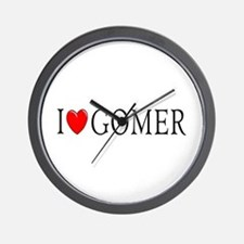 I Love Gomer Wall Clock