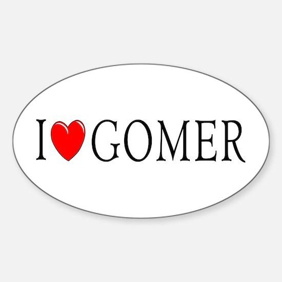 I Love Gomer Oval Decal