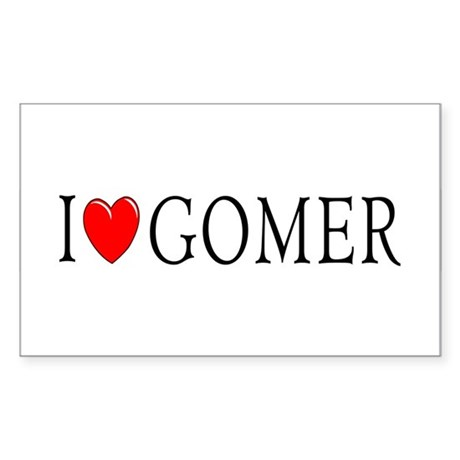 I Love Gomer Rectangle Sticker