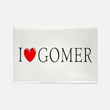 I Love Gomer Rectangle Magnet