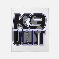 Police K9 Unit Paw Throw Blanket