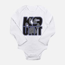 Police K9 Unit Paw Long Sleeve Infant Bodysuit
