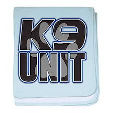 Police K9 Unit Paw baby blanket