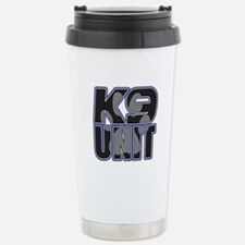 Police K9 Unit Paw Stainless Steel Travel Mug