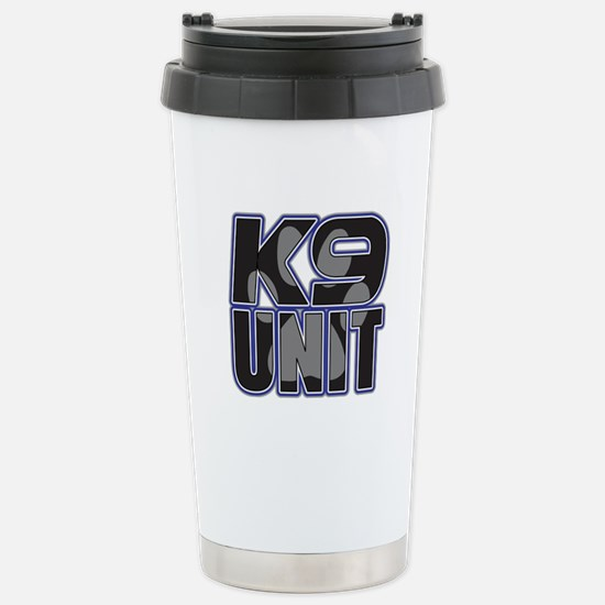 Police K9 Unit Paw Stainless Steel Travel Mug