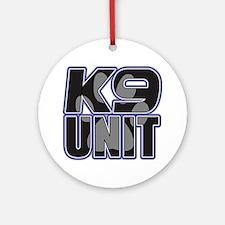 Police K9 Unit Paw Ornament (Round)
