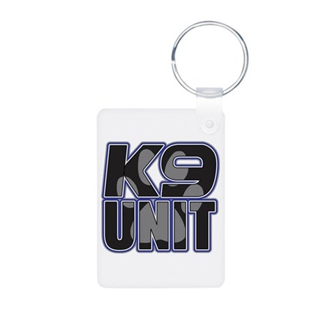 Police K9 Unit Paw Aluminum Photo Keychain