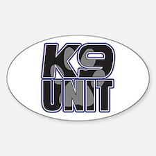 Police K9 Unit Paw Sticker (Oval)