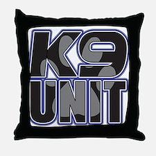 Police K9 Unit Paw Throw Pillow