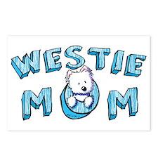 KiniArt Westie Mom Postcards (Package of 8)
