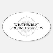 Funny Healing Sticker (Oval)