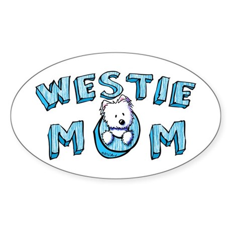KiniArt Westie Mom Sticker (Oval)