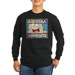 Funny Autism Awareness Long Sleeve Dark T-Shirt