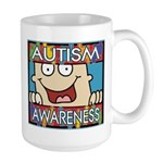 Funny Autism Awareness Large Mug