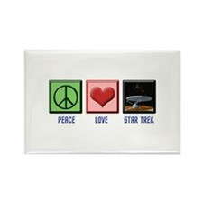 ST: Peace & Love3 Rectangle Magnet (10 pack)
