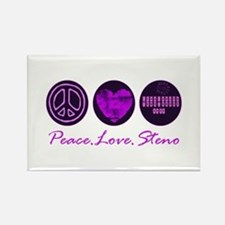 PEACE LOVE STENO Rectangle Magnet