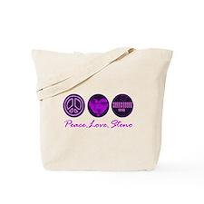 PEACE LOVE STENO Tote Bag