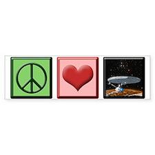 ST: Peace & Love1 Bumper Sticker