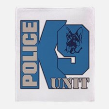 Police K9 Unit Dog Throw Blanket