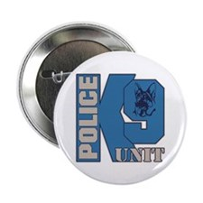"Police K9 Unit Dog 2.25"" Button"