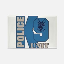 Police K9 Unit Dog Rectangle Magnet (10 pack)