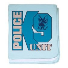Police K9 Unit Dog baby blanket