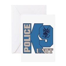 Police K9 Unit Dog Greeting Card