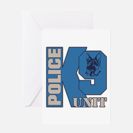 Police K9 Unit Dog Greeting Card