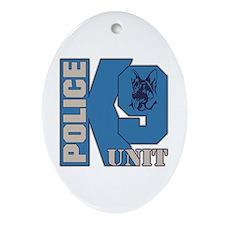 Police K9 Unit Dog Ornament (Oval)