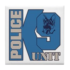 Police K9 Unit Dog Tile Coaster
