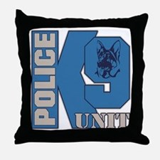 Police K9 Unit Dog Throw Pillow