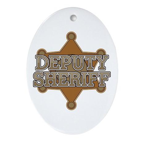 Deputy Sheriff Ornament (Oval)