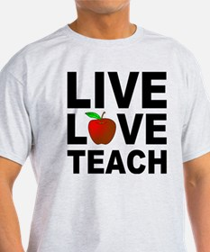 Live Love Teach Apple T-Shirt
