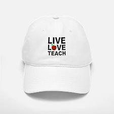 Live Love Teach Apple Baseball Baseball Cap