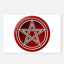 Red Pentacle Postcards (Package of 8)