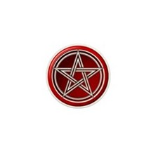 Red Pentacle Mini Button