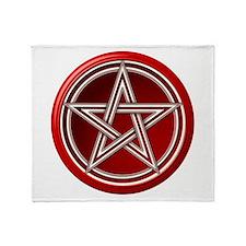 Red Pentacle Throw Blanket