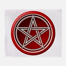 Red Pentacle Throw Blanket