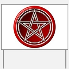 Red Pentacle Yard Sign