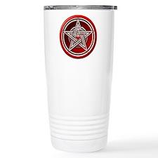 Red Pentacle w/inlay Travel Coffee Mug