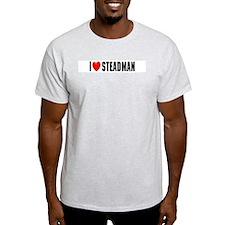 I Love Steadman Ash Grey T-Shirt