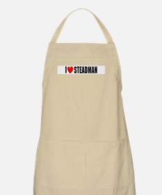 I Love Steadman BBQ Apron