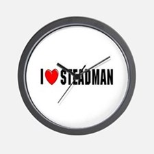 I Love Steadman Wall Clock