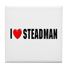 I Love Steadman Tile Coaster
