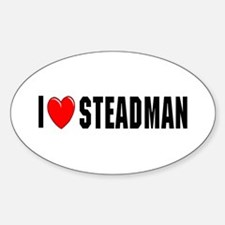 I Love Steadman Oval Decal