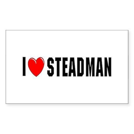 I Love Steadman Rectangle Sticker